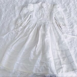 Vtg girls McClintock white lace victorian dress